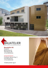 Flyer: Bauatelier AG, Wynau (BE)