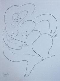 Korpulentes Temperament, Tusche auf Papier, 24x32cm, 25€