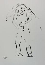 Tanz 3, Tusche auf Papier,  30x42 cm, 150 €