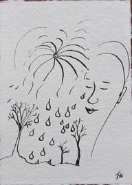 Regensegen, Tusche auf Papier, 11x15,5cm, 20€