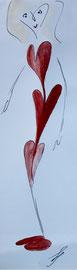 Herzwindung, Tusche und Farbe auf Papier, 8x24cm, 20€