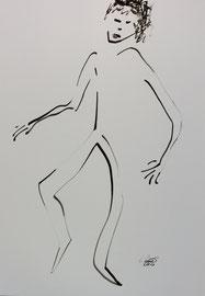 Tanz 8, Tusche auf Papier,  30x42 cm, 150 €