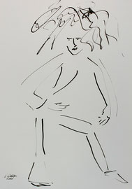 Tanz 1, Tusche auf Papier,  30x42 cm, 150 €