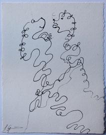 Pudelwohl, Tusche auf Papier, 25€