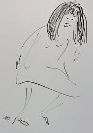 Tanz 6, Tusche auf Papier,  30x42 cm, 150 €