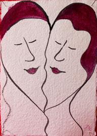 Tusche und Farbe auf Papier, 11x15,5cm, 25€