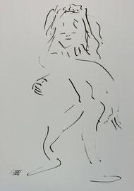 Tanz 5, Tusche auf Papier,  30x42 cm, 150 € verkauft