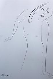 Skepsis, Tusche auf Papier, 30x42 cm, 140 €