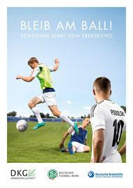 "Motiv 3 - Kampagne 2013/14 ""Bleib am Ball - Bewegung senkt Dein Krebsrisiko"""
