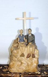 Auftragsarbeit - Portrait Figuren auf Berggipfel