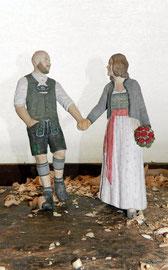 Auftragsarbeit - Brautpaar in Tracht