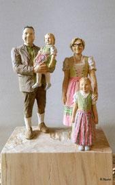 Familien Skulptur