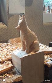 Feinschnitt - Portrait Hunde Figur