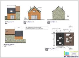 Extension d'habitation en ossature bois (Nord-Manche 50)