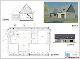 Rénovation et extesnion d'une maison en pierre (Sud-Manche 50)