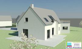 Maison contemporaine (Sud-Manche 50)
