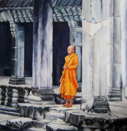 Angkor Wat, Acryl auf Leinwand, 80x80cm, 2011