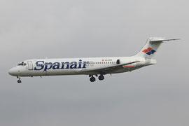Als Spanair im Anflug auf Madrid-Barajas