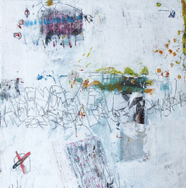 Frühlingswimmelbild II - Acryl auf Leinwand - 30 x 30 cm - 2016 -verkauft-