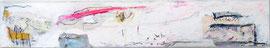 Bootsfahrt mit rosa Wolke - Acry-Mischtechnik auf Leinwand  60x10 cm - 2020