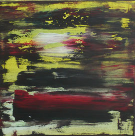 "o.T. Acryl auf LW in 60x60, 2012   /  ""Small Abstract 1""  60x60 Acrylic  23,6x23,6, 2012"