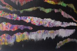 """Abstract Worlds """"Nordlichter"""" 042020 Acryl und Tuscheauf LW in 100x150 (verkauft 10 2020)"""