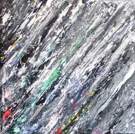 """""""Abstract World"""" o.T. 06 2018  Acryl und Tusche auf LW in 100x100"""