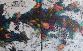 Abstract Worlds 041520 Acryl und Tusche in 100x160 auf LW (2x100x80)