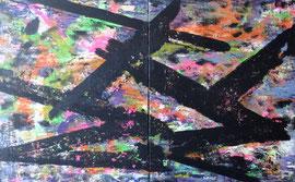 Abstract Worlds 031420 Acryl und Tusche in 100x160 auf LW (2x100x80)
