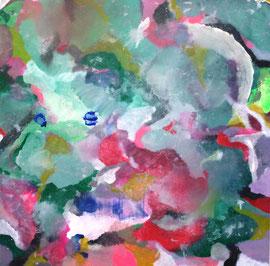 Abstract, 0.T., Acryl und Tusche auf Ulmer Grund in 80x80 (06/2017)