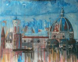 Firenze, Il Duomo, Acryl auf Leinen, 80 x 100 cm