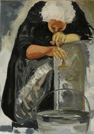 Oma, Mischtechnik Acryl/Oel auf Leinen, 60 x 80 cm