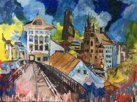 Freiburg, Acryl auf Leinen, 60 x 80 cm