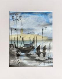Aquarell, ca. 30 x 40 cm, mit Rahmen und PP