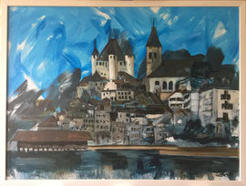 Thun, Acryl auf Leinen, 60 x 80 cm