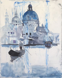 Venedig, Acryl auf Leinen, 80 x 100 cm,