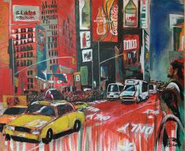 NY, Times Square, Acryl auf Leinen, 100 x 120 cm