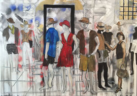 People, Acryl auf Leinen, 80 x 100 cm