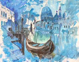 Venezia, Acryl auf Leinen, 80 x 100 cm