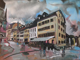 "Burgdorf, ""Dr scharf Egge"", Acryl auf Leinen, 60 x 80 cm"