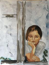 Mädchen, Mischtechnik Acryl/Oel auf Leinen, 60 x 80 cm