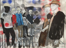 People, Acryl auf Leinen, 60 x 80 cm