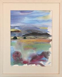 Aquarell, ca. 40 x 50 cm, mit Rahmen und PP