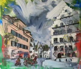 Sursee, Acryl auf Leinen, 60 x 70 cm