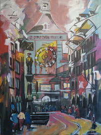 Bern, Zytglogge, Acryl auf Leinen, 80 x 100 cm
