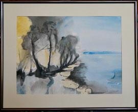 Landscape, Aquarell, mit Rahmen und PP, 30 x 40 cm