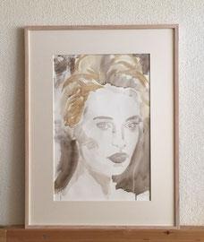 Aquarell, 60 x 80 cm, mit Rahmen und PP