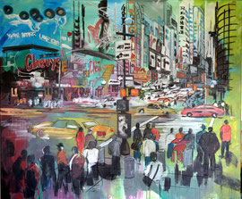 Manila, Acryl auf Leinen, 100 x 100 cm