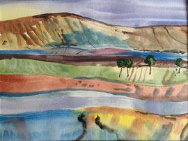 Landscape, Aquarell, 40 x 50 cm