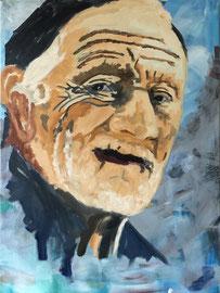 Fischer, Mischtechnik Acryl / Oel auf Leinen, 60 x 80 cm